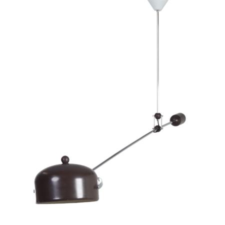 Bruine Hengellamp van J.J.M Hoogervorst voor Anvia, 1960s | Vintage Design