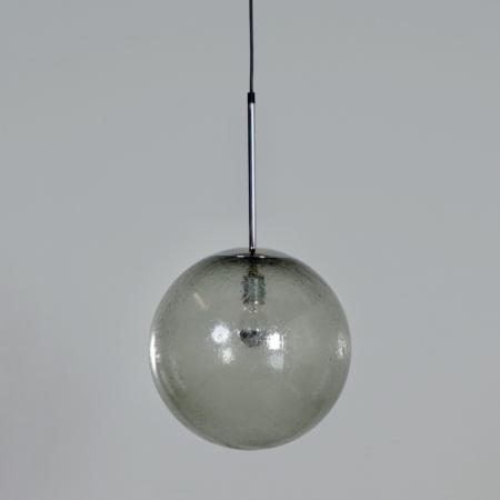 Paar Hanglampen in Bubbelglas van Peill & Putlzer, 1970s