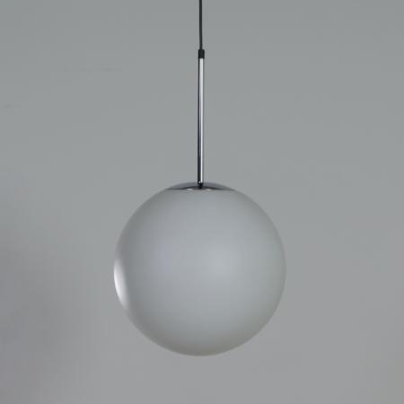 Paar Satijnglazen Hanglampen van Peill & Putlzer, 1970s
