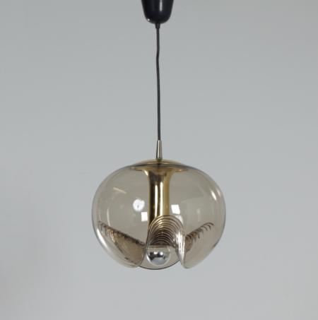 Paar Futura Hanglampen van Kristalglas van Peill & Putlzer, 1970s