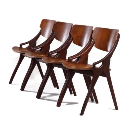 Teak Eetkamerstoelen van Hovmand Olsen voor Mogens Kold, 1960s – Set van 4 | Vintage Design