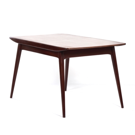 Teakhouten Eettafel van Louis van Teeffelen voor Wébé, 1950s | Vintage Design