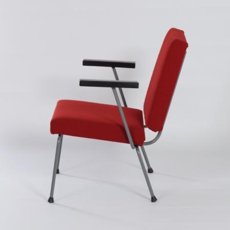 Rode  1401 Fauteuil van Wim Rietveld voor Gispen, 1950s