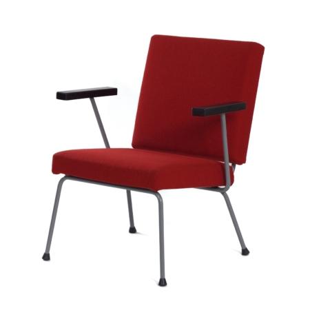 Rode  1401 Fauteuil van Wim Rietveld voor Gispen, 1950s | Vintage Design