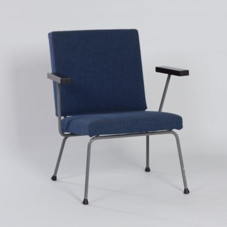 Blauwe 1401 Fauteuil van Wim Rietveld voor Gispen, 1950s