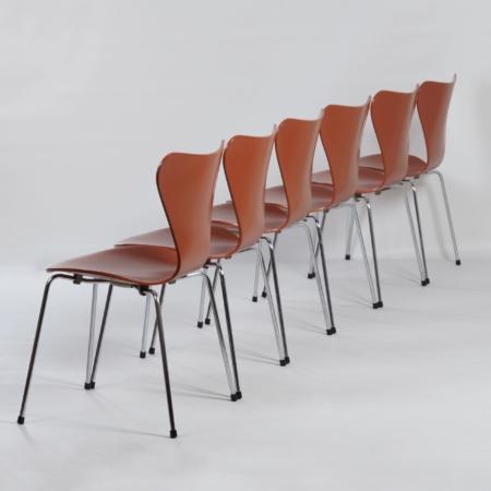 Deense Eetset van Piet Hein, Bruno Mathsson en Arne Jacobsen voor Fritz Hansen, 1970s | Eettafel met Zes Vlinderstoelen