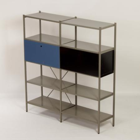 Model 663 Kast van Wim Rietveld voor Gispen, 1950s (4) – Zwart en Blauw