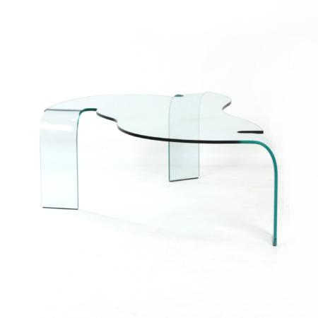 Glazen Salontafel van Hans von Klier voor Fiam Italië, 1990s | Vintage Design