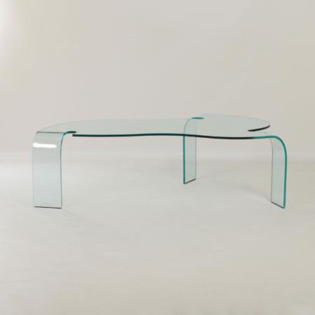 Glazen Salontafel van Hans von Klier voor Fiam Italië, 1990s