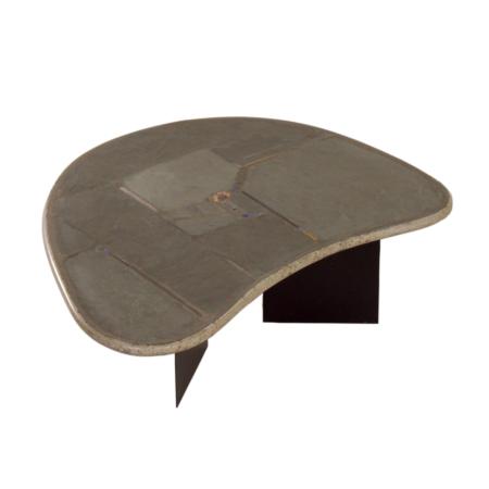 Niervormige Natuurstenen Salontafel van Paul Kingma, 1995 | Vintage Design