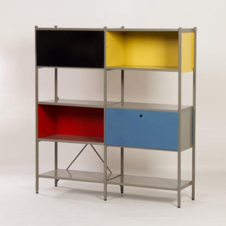 Model 663 Kast van Wim Rietveld voor Gispen, 1950s (1) – Geel, Zwart, Rood en Blauw