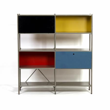 Model 663 Kast van Wim Rietveld voor Gispen, 1950s (1) – Geel, Zwart, Rood en Blauw | Vintage Design