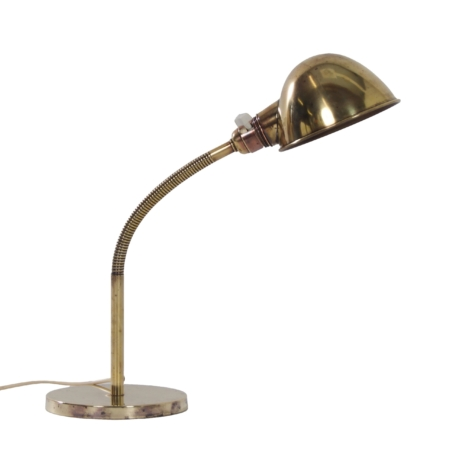 Gebronsd koperen Bureaulamp Model nr. 15 van H. Busquet voor Hala, 1930s
