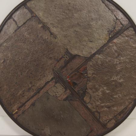 Bruine Natuurstenen Salontafel van Paul Kingma, 1993 – Rond 116 cm