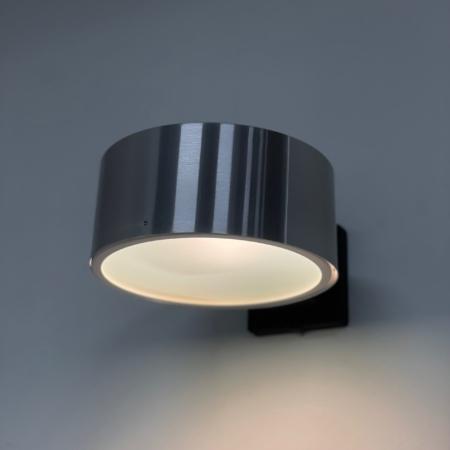 Raak Wandlamp model C-1506 van Aluminium en Glas, 1960s (2)