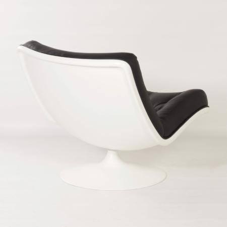 976 Draaifauteuil van Geoffrey D. Harcourt voor Artifort, 1960s | Zwart Leer