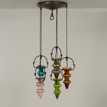 Stalactiet Hanglamp van Nanny Still voor Massive & Val Saint Lambert, 1960s