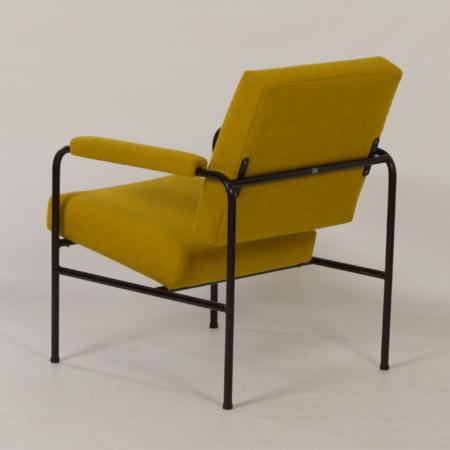 Gele G 3015 Fauteuil van W.H. Gispen voor Riemersma, 1960s