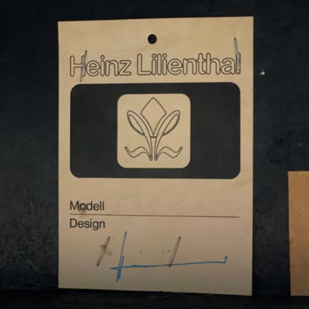 Salontafel met Geëtst Metalen Blad van Heinz Lilienthal, 1970s
