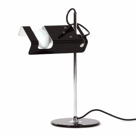 Zwarte Spider Bureaulamp van Joe Colombo voor Oluce, 1990s | Vintage Design