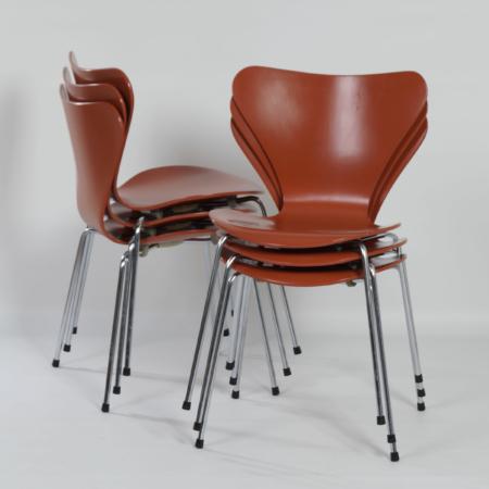 Vlinderstoelen van Arne Jacobsen voor Fritz Hansen, 1970s | Set van 6