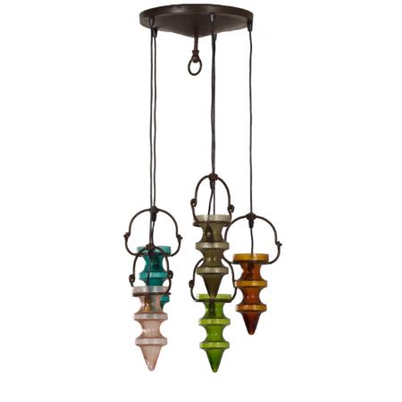 Stalactiet Hanglamp van Nanny Still voor Massive & Val Saint Lambert, 1960s | Vintage Design