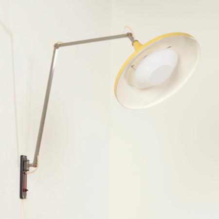 Gele Panama Wandlamp van Wim Rietveld voor Gispen, 1950s