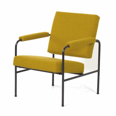 Gele G 3015 Fauteuil van W.H. Gispen voor Riemersma, 1960s | Vintage Design