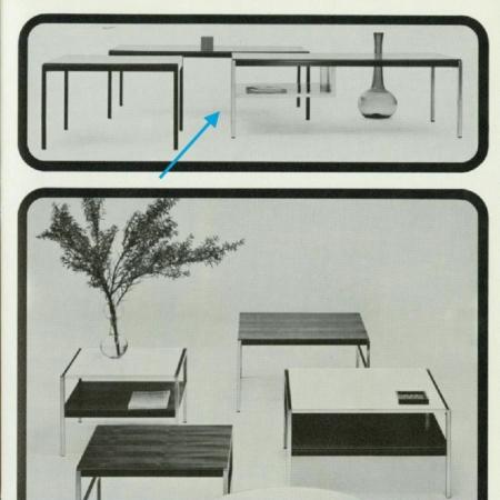 Salontafel 3651 van Coen De Vries voor Gispen – 1960s