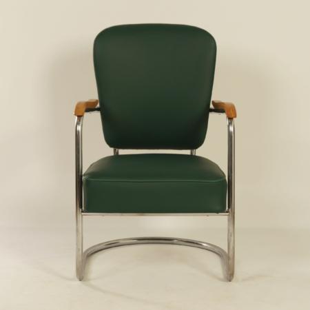 Verende Luxe Armstoel 2154 van Paul Schuitema voor Fana Metaal, 1930s
