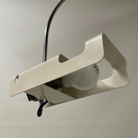 Witte Spider Tafellamp van Joe Colombo voor Oluce, 1970s