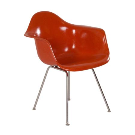 Oranje DAX Kuipstoel van Charles & Ray Eames voor Fehlbaum (voor Herman Miller), 1970s | Vintage Design