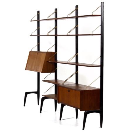 Teak Wandmeubel van Louis van Teeffelen voor Wébé, 1960s | Vintage Design