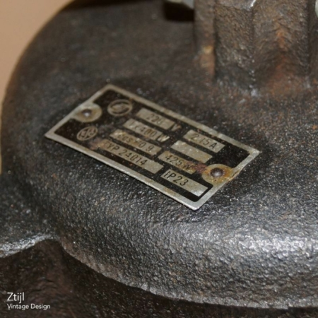 Partij Emaille Fabriekslampen van EFC, 1950s
