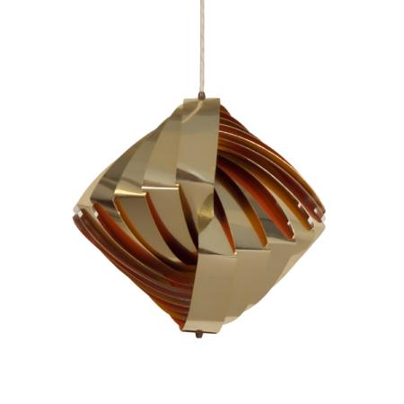 Deense Konkylie Hanglamp van Louis Weisdorf voor Lyfa, 1960s | Vintage Design