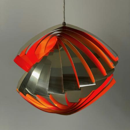 Deense Konkylie Hanglamp van Louis Weisdorf voor Lyfa, 1960s