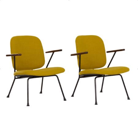 Paar Fauteuils van Gijs van der Sluis voor van Der Sluis Stalen Meubelen, 1960s | Vintage Design